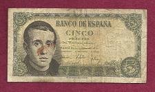 Buy SPAIN 5 Pesetas 1951 Banknote 2131704 - Jaime Balmes at left P140 Watermark