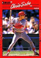 Buy Chris Sabo #242 - Reds 1990 Donruss Baseball Trading Card