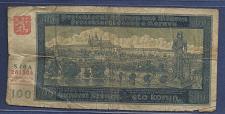 Buy BOHEMIA & MOROVIA 100 Kronen 1940 Banknote 281504 CZECHOSLOVAKIA WW2 German Occupatio
