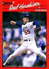 Buy Orel Hershiser #197 - Dodgers 1990 Donruss Baseball Trading Card
