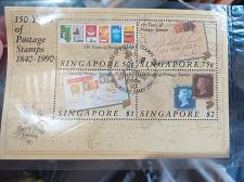 Buy 150 years of Postage Stamp 1840-1990 Miniature Sheet cancelled with Date of Issue