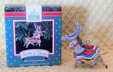 Buy Complete Set of 5 Hallmark Santa and His Reindeer Collection Christmas Ornaments