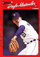 Buy Doyle Alexander #62 - Tigers 1990 Donruss Baseball Trading Card