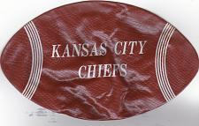 "Buy Vintage 1960's 7"" inflatable football Kansas City Chiefs"