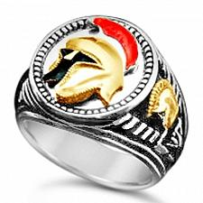 Buy TROJAN Helmet Mens Signet ring Sterling Silver Lge