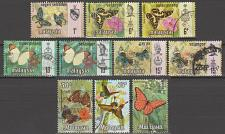 Buy [MAM001] Malasya: 10 different butterfly stamps, used