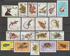 Buy [ROM001] Romania: 19 different Fauna Topicals CTO/Used