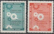 Buy [UN0065] UN NY: Sc. No. 65-66 (1958) MNH Full Set