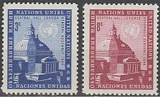 Buy [UN0061] UN NY: Sc. No. 61-62 (1958) MNH Full Set