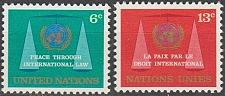 Buy [UN0197] UN NY: Sc. No. 197-198 (1969) MNH Full Set