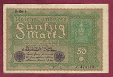 Buy GERMANY 50 MARK 1919 Banknote 476113, Reiche 1 - Woman at Right