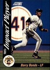Buy 1992 Score Impact Players #55 Barry Bonds - Pittsburgh Pirates