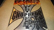 Buy West Coast Choppers Die Cut Sticker Set of 5 Decals & Jesse James Postcard