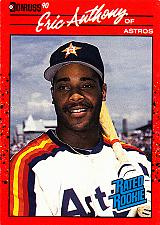 Buy Eric Anthony #34 - Astros 1990 Donruss Rookie Baseball Trading Card