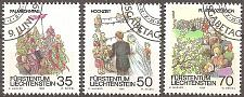 Buy [LI0844] Liechtenstein: Sc. No. 844-846 (1986) Cancelled Complete Set