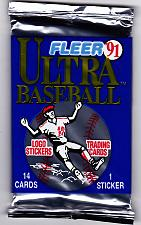 Buy Fleer Ultra 1991 Baseball Cards Factory Sealed Pack