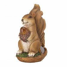 Buy *16219U - Squirrel w/Acorn Light Up Solar Statue Garden Yard Art