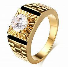 Buy Elvis Presley TCB Concert Super Star Crystal Stunning Gold Plated 6-11 Mens Ring