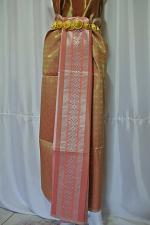 Buy Thai Tradition Old Gold Synthetic Silk Fabric For Skirt Wedding dress Costume