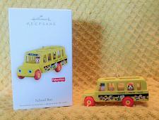 Buy Hallmark Keepsake Fisher Price School Bus Christmas Ornament W/Box Exc Condition