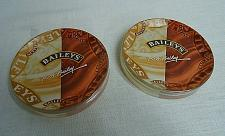 Buy 2 Vintage Baileys Irish Cream Thick Glass Coasters for cup or bottle