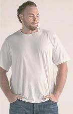 Buy Men`s 3XL New White Saturday Stretch Tee 50% Poly /50% Cotton New