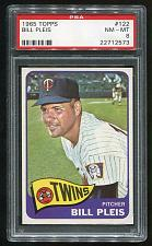 Buy 1965 TOPPS BILL PLEIS #122, PSA 8 NM-MT (22712573)