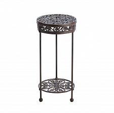 Buy *15518U - Round Flourish Design Cast Iron Plant Stand