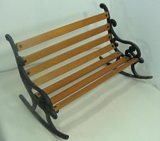 """Buy New Doll Display Rocking Bench Wood and Cast Iron 12 3/4"""" x 8 1/4"""""""
