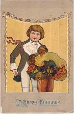 Buy A Happy Birthday Embossed Border Rotograph Vintage Postcard
