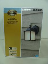 Buy HAMPTON BAY EXTERIOR WALL LANTERN OIL-RUBBED BRONZE FROSTED GLASS 393810 AUTO ON