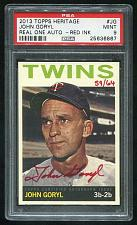 Buy 2013 TOPPS HERITAGE REAL ONE RED AUTO JOHN GORYL PSA 9 MINT (25636867)