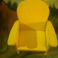 Buy Vintage Toy Rocking Chair Doll Furniture Hand Made Vintage Wood 7 x 8