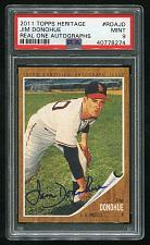 Buy 2011 TOPPS HERITAGE REAL ONE AUTO JIM DONOHUE, PSA 9 MINT (40778274)
