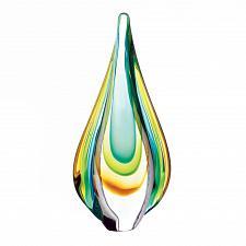 Buy *18104U - Yellow Green Teardrop Glass Art Decorative Accent Figure