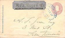 Buy 1870 Wells Fargo Gilroy Calif Blue Oval Postmark on U59 PSE Cover