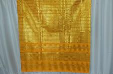 Buy Thai Tradition Yellow Synthetic Silk Fabric For Top Skirt Wedding dress E16