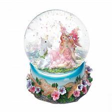 Buy *18441U - Unicorn & Garden Fairy Figurine Mini Glass Snow Globe