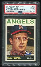 Buy 2013 TOPPS HERITAGE REAL ONE AUTO PAUL FOYTACK PSA 9 MINT (41680176)