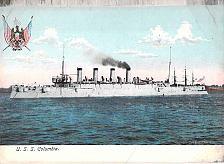 Buy US Navy, U.S.S. Columbia Great Wite Fleet Cruiser Vintage Postcard