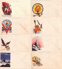 Buy WWII 8 Different Minkus Original Unused Patriotic Stationary Envelopes
