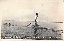 Buy US Navy Submarine Coming To The Surface Real Photo Vintage Postcard