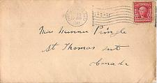 Buy 1910 Fairbanks Alaska Territory Cover to Canada American Flag Cancel Very Scarce