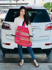 Buy Vintage Thai HMONG Tribal Handmade Floral Cross stitch EMBROIDERED BAG Handbag