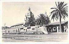 Buy Santa Fe Streamliner and Station San Diego, Calif Real Photo Vintage Postcard