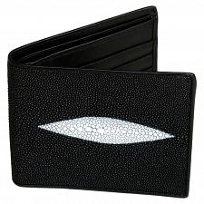 Buy Genuine Stingray Skin Mens Wallet Slim Bifold Black with One Spine