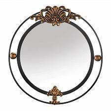 Buy *18790U - Regal Black Wall Mirror Gold Flourish Accents