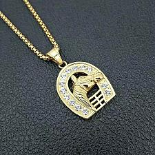 Buy Elvis Presley TCB Horseshoe Concert Crystal 1950's Gold Plated Pendant Necklace