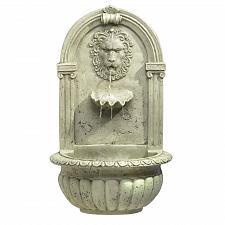 Buy 32428U - Lion Head Carved Stone Look Wall Water Fountain Yard Art