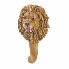 Buy *16781U - Ferocious Lion Head White Single Wall Hook
